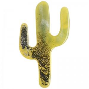 Broche de resina forma de cactus en verde