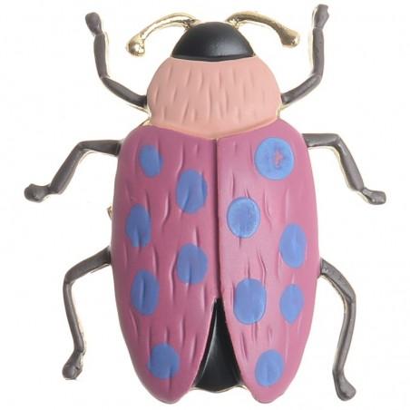 Broche de metal en forma de escarabajo