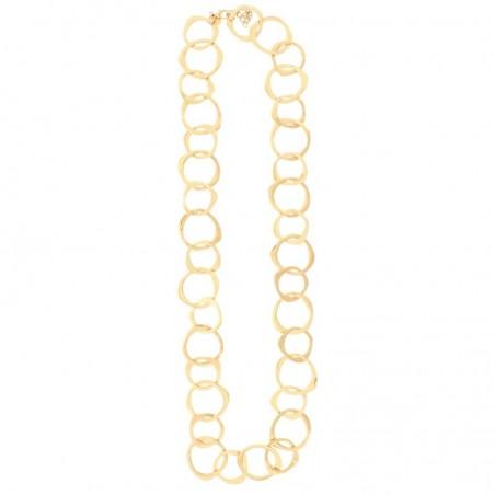 Collar largo con eslabones dorados