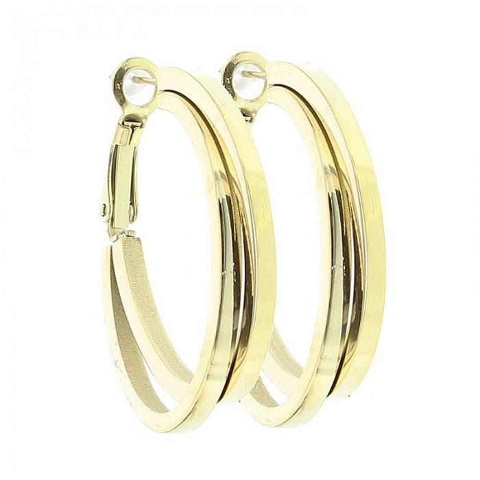 de62c2858795 Pendientes de metal en forma de doble aro - Cucada moda y complementos