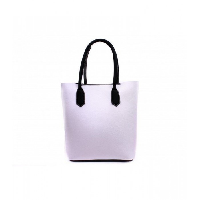 Bolso de neopreno en color plata