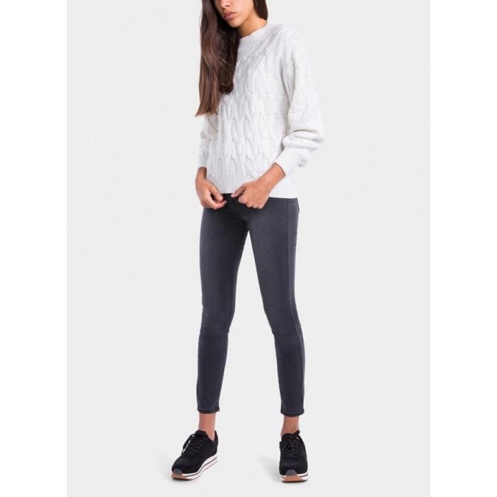 Jersey de manga larga con cuello redondo