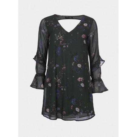 Vestido corto de la marca Tiffosi estampado en flores