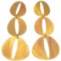 pendientes resina largo tres ovalos con rendija central