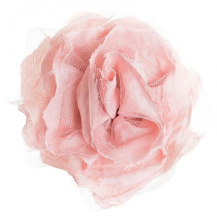 Broche en forma de flor color rosa