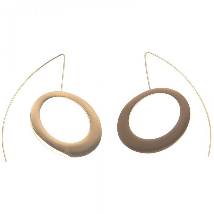 Pendientes de acero con circulo irregular