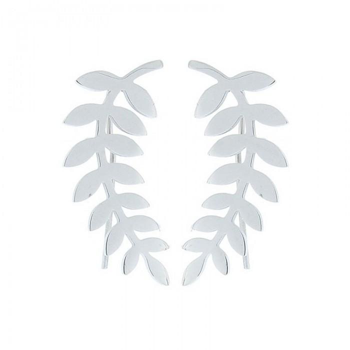 Pendientes de acero con forma de ramita