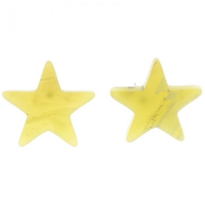 Pendientes de resina en forma de estrella
