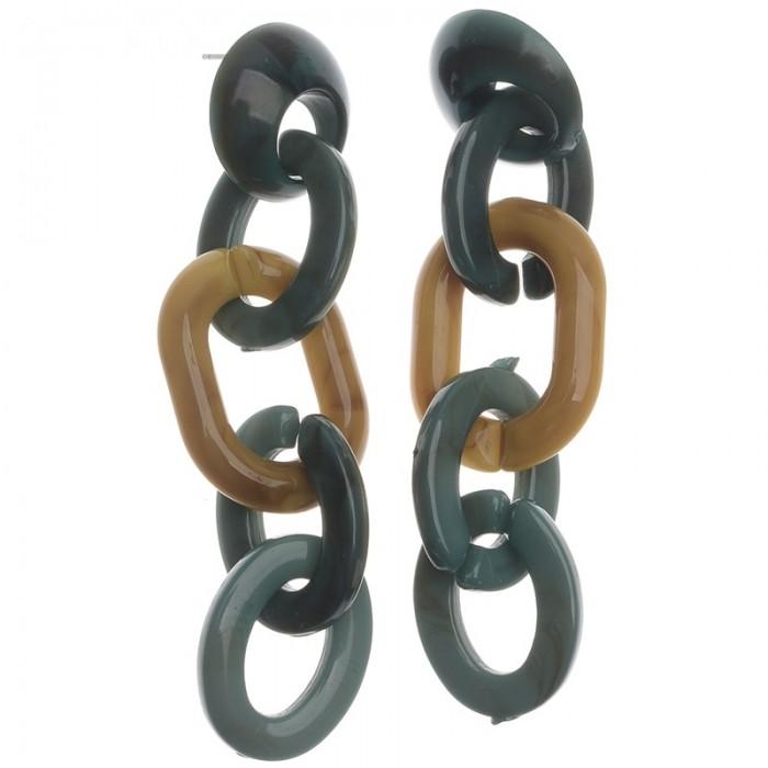 Pendientes largos de resina en forma de eslabones