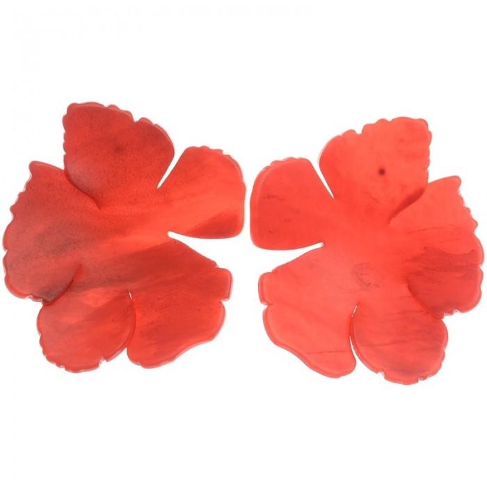 Maxi pendientes de resina en forma de flor