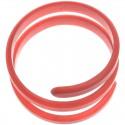 Brazalete de resina en forma de espiral
