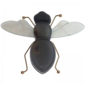 Broche en forma de insecto combinado en resina y metal