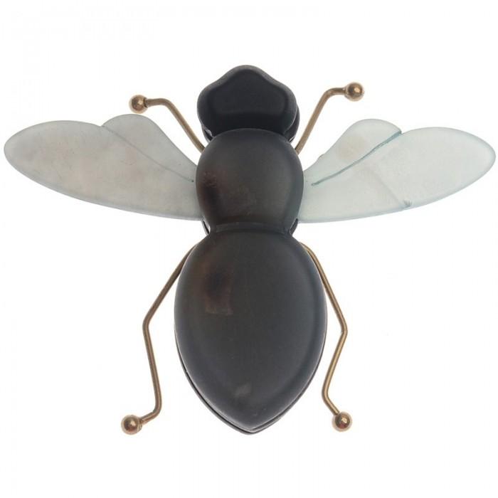 Broche de insecto en metal y resina con tonos azules