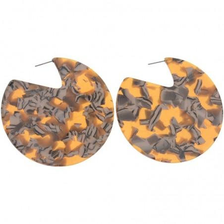 Pendientes XL de aro plano estampado en resina