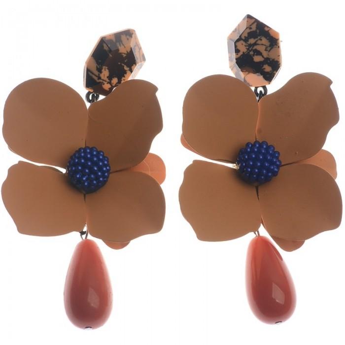 Pendientes XXL en forma de flor de resina