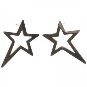 Pendientes de acero en forma de estrella