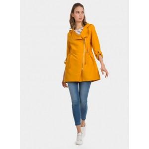 Cortavientos para chica de Tiffosi en amarillo