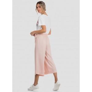 Pantalón culotte con lazada en la cintura de Tiffosi