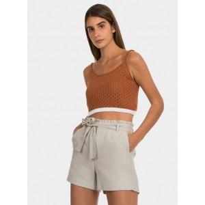 Pantalón corto con fruncido en la cintura y lazo de Tiffosi