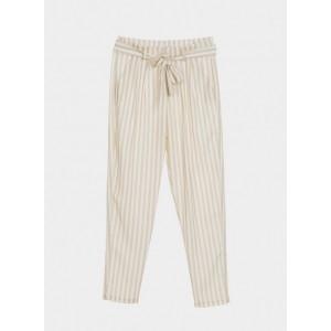 Pantalón de rayas verticales tonos crudos de Tiffosi