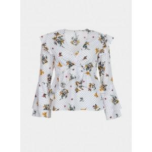 Blusa de Tiffosi en blanco con estampado floral