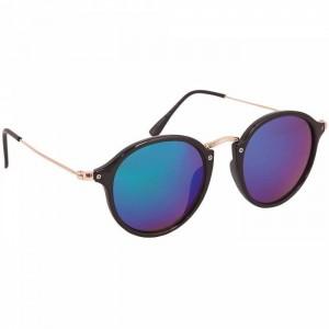 Gafas de sol de Charles Therapy en negro con lente de espejo en azul