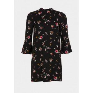 Vestido de Tiffosi en negro con estampado floral