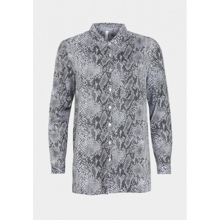 Camisa con estampado de serpiente en tonos grises de Tiffosi