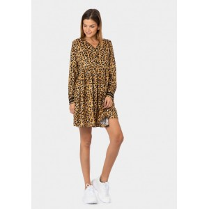 Vestido estampado de animal print de Tiffosi