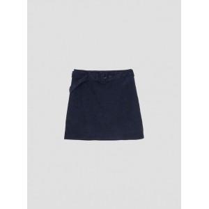 Falda de micro pana en marino de Tiffosi