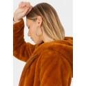 Chaqueta de pelo sintético con capucha de Tiffosi