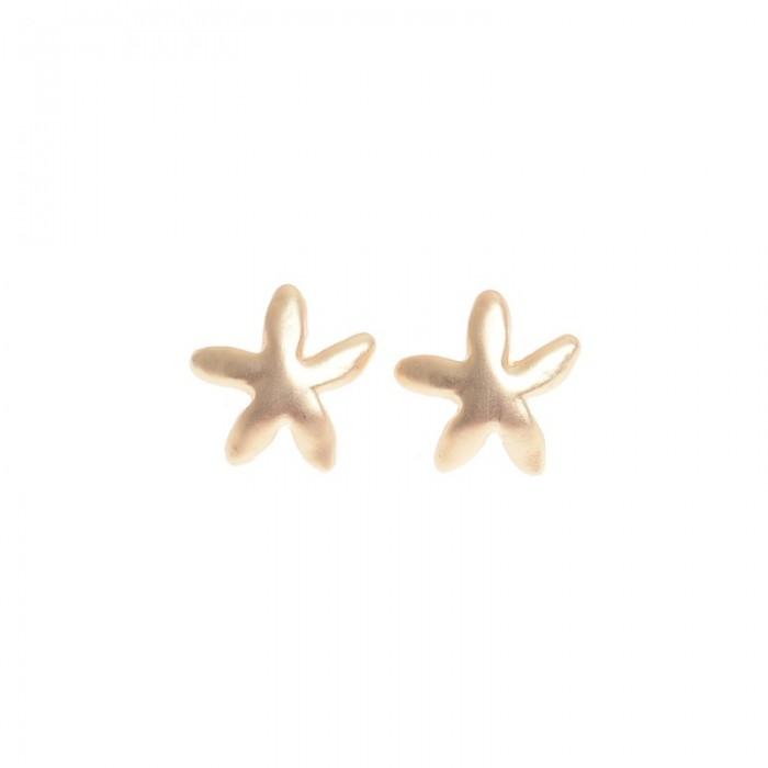 Pendientes de metal en dorado con forma de estrella
