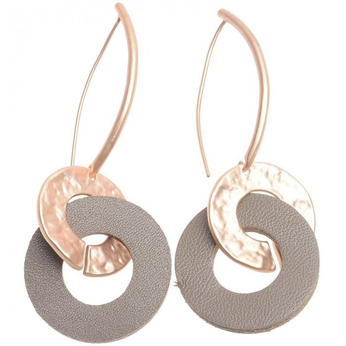Pendientes de metal en dorado con anilllas