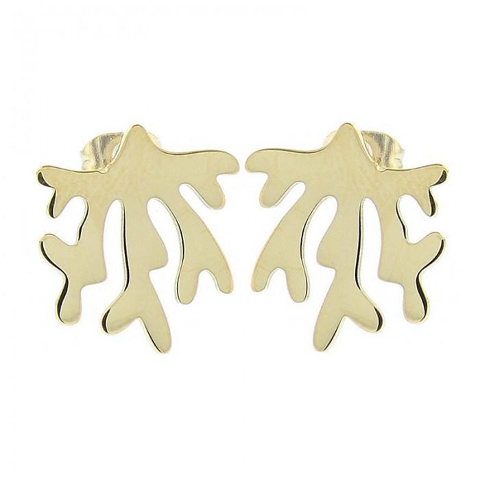 Pendientes de acero con forma de coral