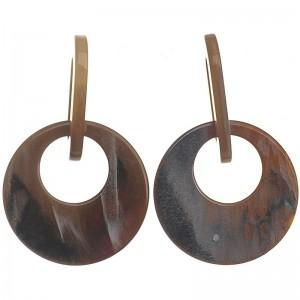 Pendientes de resina con animal print en tonos marrones