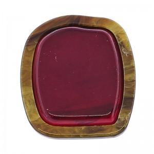 Anillo de resina en color rojo