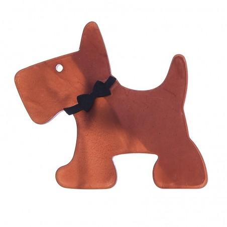 Broche de resina con forma de perrito