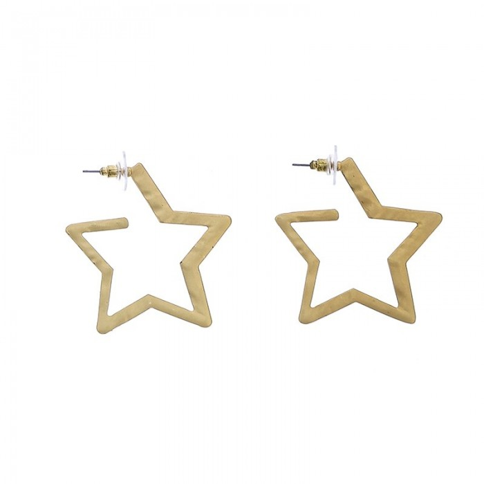 Pendientes de aro con forma de estrella
