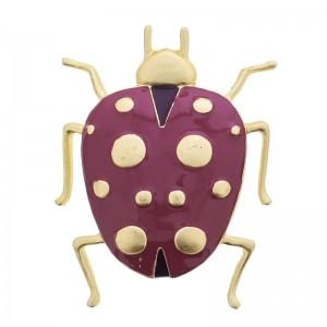 Broche de metal con forma de insecto esmaltado