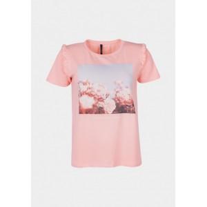 Camiseta con volantito en hombro de Tiffosi modelo Fiona