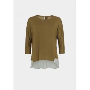 jersey punto liso con faldon tela flores Mirande_10 - T-Shirt's L/S