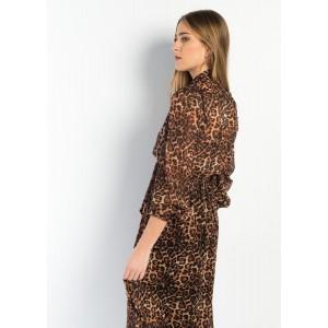Vestido animal print leopardo