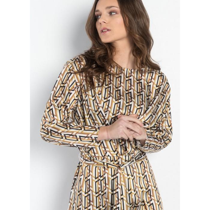 Vestido estampado geometrico