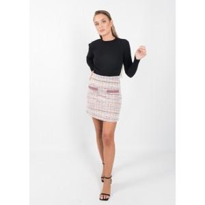 Minifalda estampado jacquard