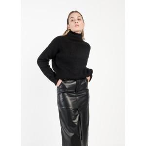 Falda efecto piel midi