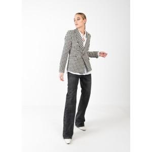 Blazer con estampado Tweed
