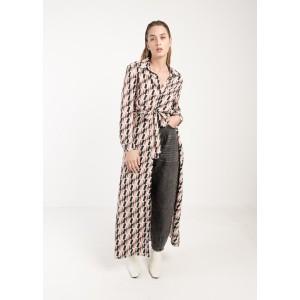 Vestido largo camisero
