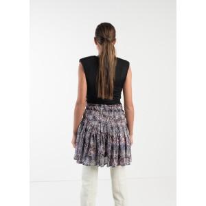 Minifalda fruncida