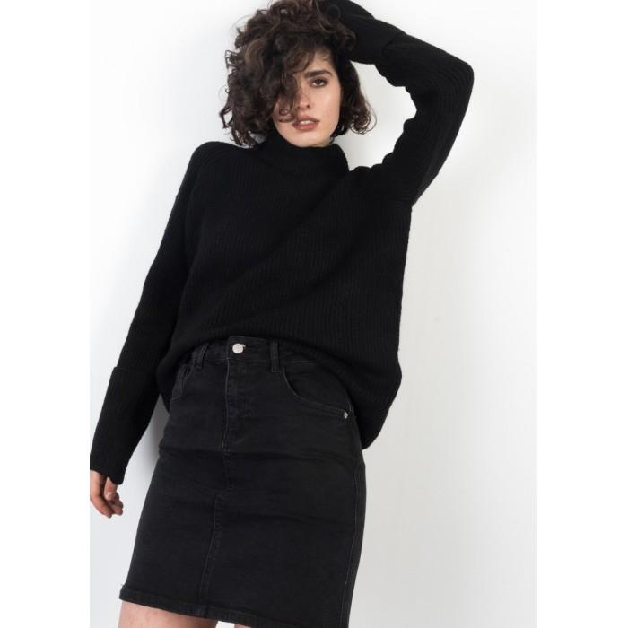 Minifalda vaquera negra