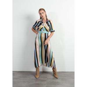 Vestido estampado rayas